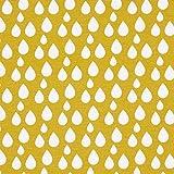 Fabulous Fabrics Dekostoff Tropfen 6 – senf — Meterware