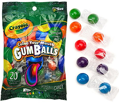 Price comparison product image Crayola Colour Your Mouth Gumballs 65g , Sweets, American, 20 gumballs per pack