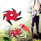 Womdee Trimmer Head Cutter 6 Steel Blades Razors 65Mn Trimmer Head Cutter per falciatrice Grass,Decespugliatore Adatto per Stihl,Eco,Homelite,Husqvarna
