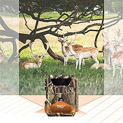 WingHome Wildlife Trail Camera with Infrared Night Vision Up to 65ft 1080P 12MP No Glow Waterproof for Outdoor Wildlife Observation Backyard Garden Monitoring Camping Trip