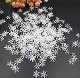 ILOVEDIY 300Stück Weihnachten Glitzer Schneeflocken Fensterdeko hängend Ornaments Weihnachtsbaum Dekorationen Christbaumschmuck