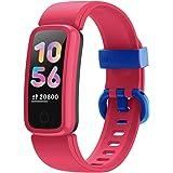BIGGERFIVE Vigor Orologio Fitness Tracker Bambino Bambina Donna, Contapassi Smartwatch con Cardiofrequenzimetro da Polso,Impe