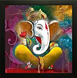 #3: SAF Ganesh Painting || Ganesha painting || Ganesh poster || Ganesh wall stickers || SAF exclusive Framed Wall Art Paintings for Living room and Bedroom. Frame size (12 inch x 12 inch, (Wood, 30 cm x 3 cm x 30 cm, Special Effect Textured)