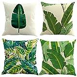 4 pezzi 45x45cm 18X18 pollice tela federa tradizionale classico decorativo Tropical Divano Home Decor federa