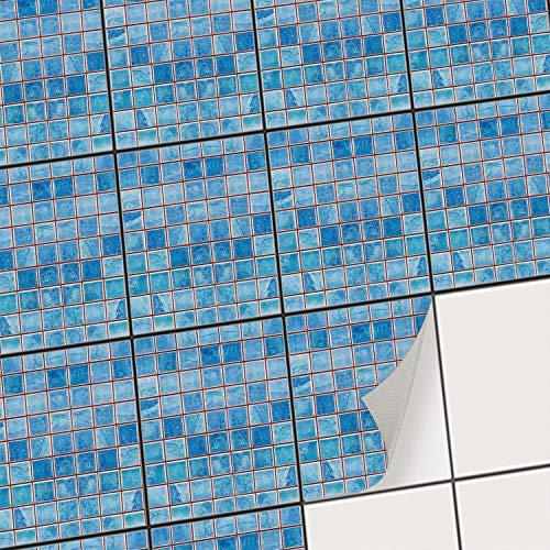 creatisto Fliesenaufkleber Fliesenfolie Mosaikfliesen - Hochwertige Sticker Aufkleber für Wandfliesen I Klebefliesen Deko Folie für Fliesen in Küche u. Bad/Badezimmer (20x25 cm I 6 -Teilig)
