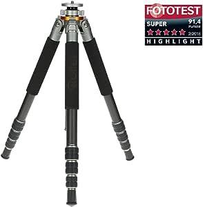 Rollei Lion Rock 25 Mark II – Carbon Stativ,Kamera Stativ mit 25 kg Tragkraft, ideal für Reise und Naturfotografie, perfekt für Spiegelreflex(DSLR) u. Systemkameras(DSLM),mit integrierten Spikes