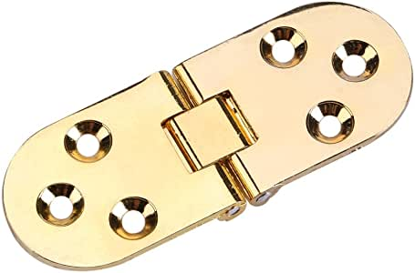 Gold 2Pcs Charni/ères /à rabat de plateau porte En alliage de zinc Mini charni/ères pliante Meuble tiroir armoire bureau Accessoire quincaillerie 8*3cm