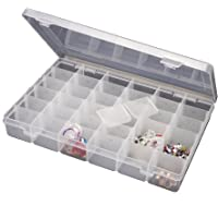 Celebration 36 Adjustable Multipurpose Plastic Rectangular Storage Box- Medium, White