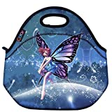 Blue Fairy Thermal Neoprene Waterproof Kids Insulated Lunch Portable Carry Tote Picnic Storage