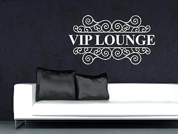 Graz Design 720423 57 070 Wandtattoo Wandaufkleber Wand Deko Wohnzimmer VIP Lounge Ornament Vintage Grsse102x57cm FarbeSchwarz Amazonde Kche