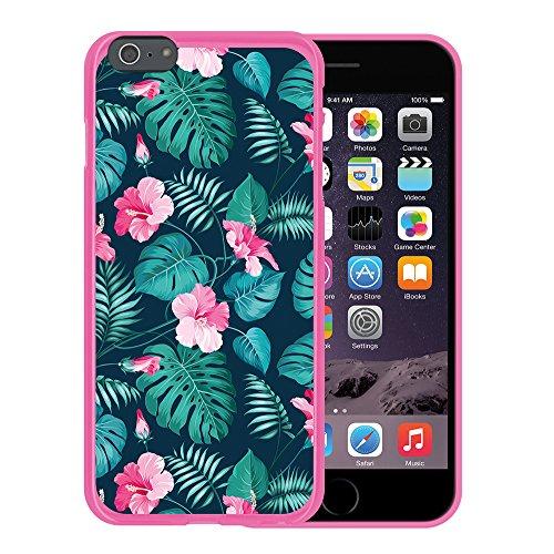 WoowCase Hülle Case für { iPhone 6 Plus 6S Plus } Handy Cover Schutzhülle Hund Fußabdruck Housse Gel iPhone 6 Plus | 6S Plus Rosa D0310