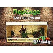TerraBasic RepCage 120 X 60 X 60 con ventilazione laterale e passerella in vetro