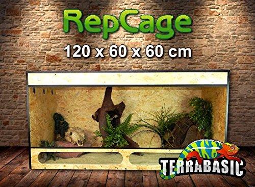 TerraBasic RepCage 120 x 60 x 60 con ventilación lateral y pasarela...