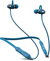 Flybot Jazz Bluetooth 5.0 Neckband in-Ear Wireless Earphones with Mic, Deep Bass & Flexible Headset (Blue)
