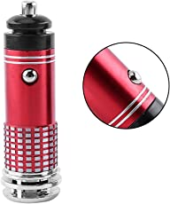 Car Home Air Purifier Pro Ionizer Ozone Generator Bar Mini Cleaner Black Red 3.1 × 0.9 Inch DC 12V(Red)
