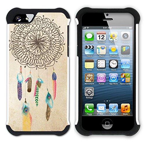 Graphic4You Traumfänger Indisch Einheimisch Hart + Weiche Kratzfeste Hülle Case Schale Tasche Schutzhülle für Apple iPhone SE / 5 / 5S Design #10