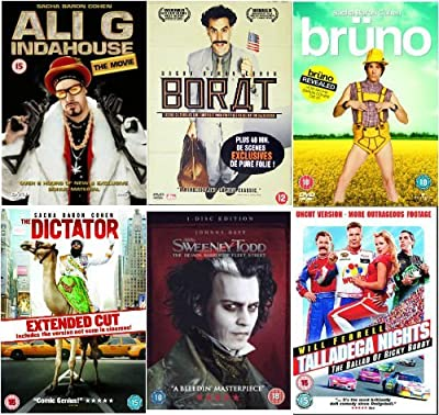 The Complete Sacha Baron Cohen DVD Collection: Ali G - Indahouse / Borat / Bruno / Dictator / Sweeney Todd / Talladega Nights b