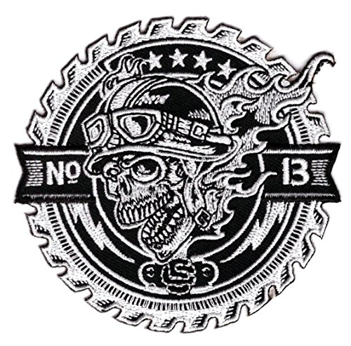 lucky-13-racer-skull-outlaw-biker-anarchy-patch-iron-on-ecusson-brode-patch-thermocollant-by-titan-o