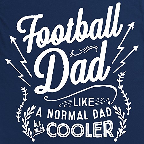 Football Dad Langarmshirt Funny Novelty Gift, Herren Dunkelblau