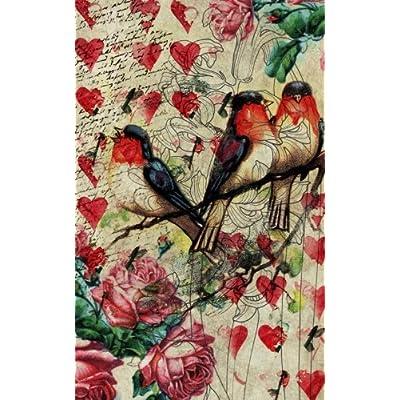 Carnet de Mots de Passe: A5 - 98 Pages - 010 - dessin coeurs oiseaux fleurs