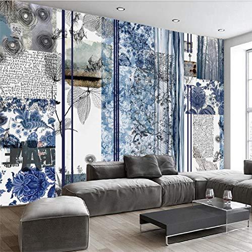 Kundenspezifisches großes Haus-Hintergrundwandbild des Wandtapetengrüns Retro- nationalen Windes der europäischen Art des ganzen-350X250CM