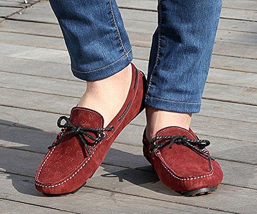 Sapatos Sapatos Borlas Camurça Baixos Sapatos Homens De Estúdio Tinto Sk Condução Moccasin Homens Chinelo Vinho Respirável Lazer Monocromático SvU1qgRq