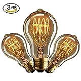 CMYK Antike Edison Vintage MasterGlobe Glühbirne (40W, E27, 220-240V) Ideal für Nostalgie und Retro Beleuchtung-3 Stücke
