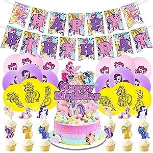 BESTZY Unicornio Decoraciones de Cumpleaños