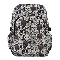 Smiling Cats Cool Canvas Backpack Rucksack School College Travel Goth Rock Bag
