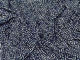 ZigZag Chevron Print Chiffon Kleid Stoff schwarz &