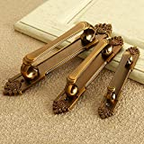 #10: Generic New 3 Types European Vintage Brass Metal Door Handles For Home Accessories Cabinet Drawer Pull Wardrobe Cupboard Zinc Alloy Knobs 117mm