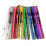 eBoot Cinta de Uñas de Línea Cinta Adhesiva de Uñas para Decoración de Arte de Uñas, Colores Variados, 40 Piezas