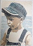 Acrylbild,Childhood Unikat Dot painting