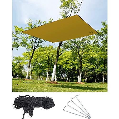 CHUDAN Wasserdichte Hängematte Regen Fly Zelt Plane, Camping Zelt Tarps, tragbare leichte Camping Shelter für Schnee Sonnenschutz für Camping Outdoor-Reisen (145x180 cm)