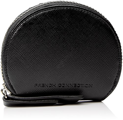 french-connection-womens-super-zip-pu-salli-wallet-1-purse-black-saffiano