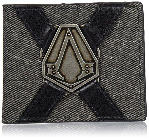 Preisvergleich Produktbild Assassins Creed Geldbeutel Syndicate Geldbörse Assassin's Creed Game Portemonnaie Brieftasche Embossed Red Logo