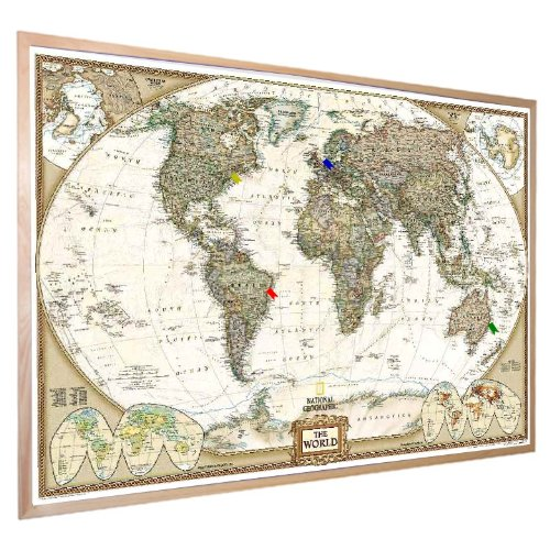 Made In Kansas City Marketplace Home Goods Pinnable Cork Map - Us map picture frame