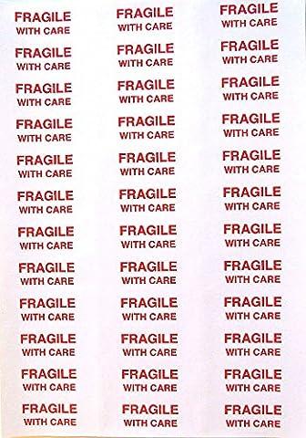 Fragile avec étiquette d'entretien Stickers 65mm par 22mm vous Multi avec Bulk Achats 108 x labels