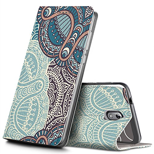 GeeMai Nokia 3.1 Hülle, Nokia 3 2018 Hülle, Leder Hülle Flip Case Tasche Cover Hüllen Schutzhülle handyhüllen für Nokia 3 2018 Smartphone, CH26