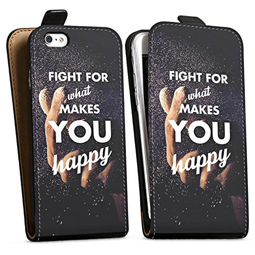 Apple iPhone X Silikon Hülle Case Schutzhülle Glück Motivation Leben Downflip Tasche schwarz