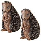 Design Toscano Halsey the Hedgehog Garden Statue, Set of Two, Polyresin, Full Colour, 28 cm