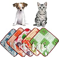 mascotas perros accesorios deportiva perros cama de perrito almohadilla caliente Sannysis Almohadillas térmicas eléctricas Manta Mat Cama para perro, 40cm*60cm, color aleatorio