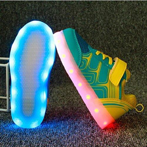 [+Piccolo asciugamano]Luci LED colorati bagliore e ricarica scarpe dargento nuovo scarpe casual USB maschio luminoso e di coppia scarpe femmin c12