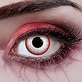 aricona Kontaktlinsen Farblinsen Zombie Kontaktlinsen für Halloween - Farbige Kontaktlinsen ohne Stärke - Weiche Kontaktlinsen - deckend weiß