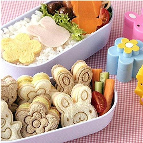 Sandwich Form, 3 Stück WCIC Backformen Ausstechformen Bär Blume Hase Kaninchen Muster Brot Ausstecher Kekse geprägt Tools Reis Küchenhelfer Kochzubehör Form für hectorl 's Food