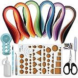 Juya Papier Quilling Kits mit 30 Farben 600 Strips und