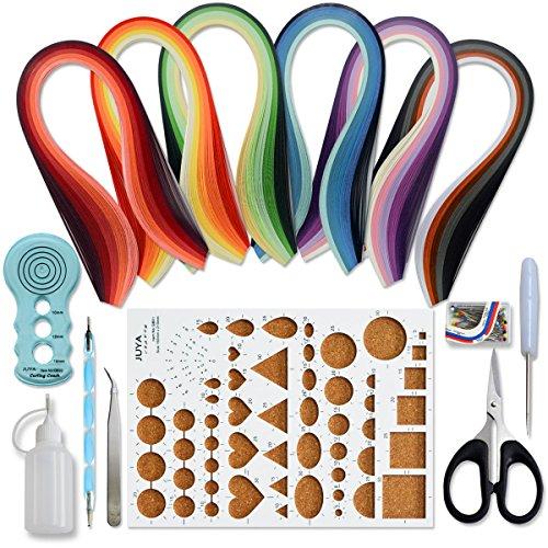 Juya Paper Quilling kit con 30 colori 600 strisce e