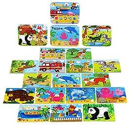 BBLIKE Puzzle Bambini 3 Anni Giochi in Legno per Bambini Puzzle 224pcs in 4 scatole di Latta, Regalo di Compleanno per Bambini Giocattolo Educativo Regalo Regalo di Natale per Bambini 2 3 4 5 Anni