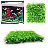 WINNERUS 2 STÜCKE Umweltfreundliche Aquarium Ornament Künstliche Wasser Kunststoff Grün Gras Pflanzen Rasen Wasser Aquarium Decor Kunststoff Gras