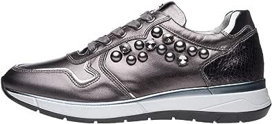 Nero Giardini A806580D Sneakers Donna in Pelle E Tela